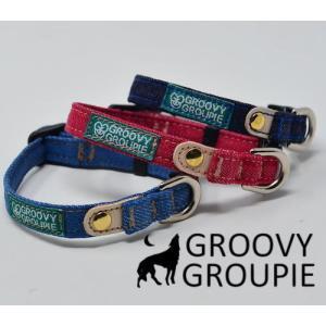 超小型犬用 首輪 デニム3色&レザー【SSサイズ】 groovygroupie