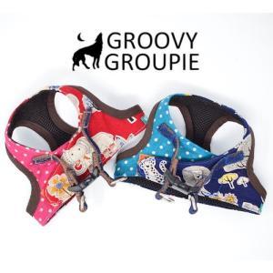 中型犬用 ベスト型ソフトハーネス Africanアニマルズ 犬 胴輪 ボディハーネス 日本製|groovygroupie