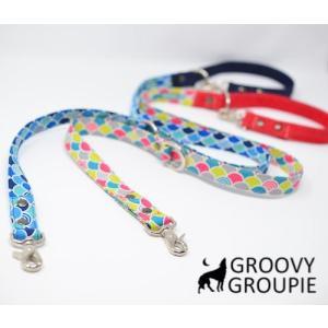 青海波 和柄&デニム!3way 長さ調節可能カフェリード 【小型犬.中型犬】|groovygroupie