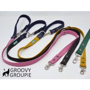 ツイル & デニム!3way 長さ調節可能カフェリード 【小型犬.中型犬】|groovygroupie