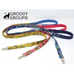 迷彩風花柄& デニム!3way 長さ調節可能カフェリード 【小型犬.中型犬】|groovygroupie