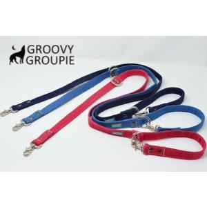 デニム!3way 長さ調節可能カフェリード 【小型犬.中型犬】|groovygroupie