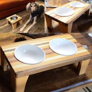 天然無垢素材の犬用食器台 Lサイズ 日本製|groovygroupie