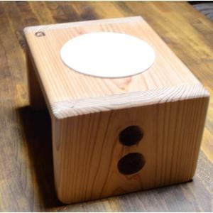天然無垢素材 杉の犬用食器台 S-Highサイズ 日本製|groovygroupie