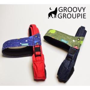 大型犬用 ハーネス ドロップペイント クイックハーネス・胴輪 ワンタッチで装着簡単 裏地クッションで優しい  日本製 オーダーメイド|groovygroupie