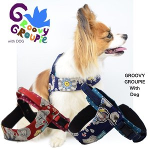 犬用ハーネス wild animals クイックハーネス・胴輪 小型犬用  ワンタッチで装着簡単 裏地クッションで優しい。 日本製|groovygroupie
