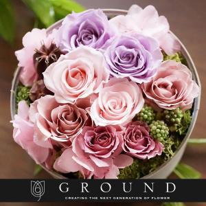 プリザーブドフラワー プレゼント ギフト 花 ブリザードフラワー おしゃれ ボックス 誕生日プレゼント 女性 サプライズ お祝い バラ あすつく 送料無料 ground-flower