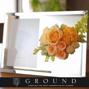 プリザーブドフラワー プレゼント ギフト 花 結婚祝い おしゃれ 花時計 誕生日プレゼント 女性 両親 母 写真立て 新築祝い お祝い 退職祝い 還暦祝い 米寿|ground-flower