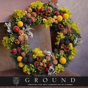 プリザーブドフラワー プレゼント ギフト 花 祝電 電報 結婚式 おしゃれ リース 開店祝い 新築祝い 実物|ground-flower