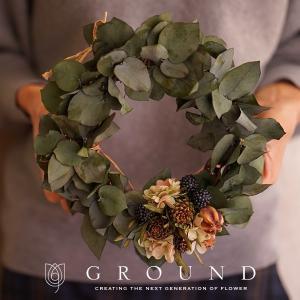 プリザーブドフラワー プレゼント ギフト 花 祝電 電報 結婚式 おしゃれ リース 開店祝い 新築祝い 送料無料 結婚祝い ユーカリ|ground-flower