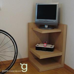 電話台 シェルフ ファックス台 本棚 リビングボード 北欧|grove