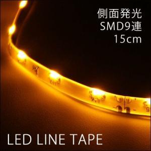 LEDテープ 側面発光SMD9連 白基盤 2本[アンバー15cm|gry