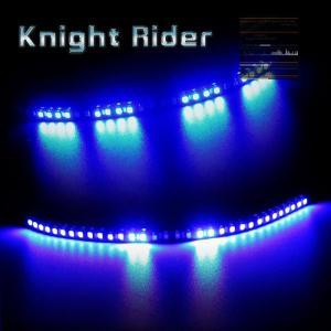ナイトライダー 32連 LEDテープ 黒基盤ブルー1本 13パターン |gry