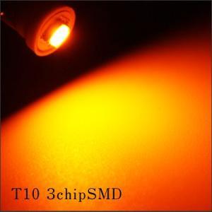 T10 3chip バルブ オレンジ 1個|gry