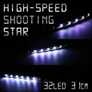 極細4mm ミニLEDテープ 高速流星リターンズ 31cm 32連1本 ホワイト gry