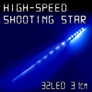 LEDテープ 高速流星リターンズ 31cm 極細4mm32連1本 ブルー gry