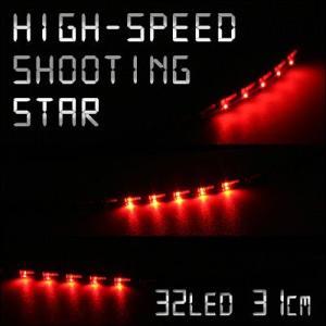 極細4mm ミニLEDテープ 高速流星リターンズ 31cm32連1本 レッド gry