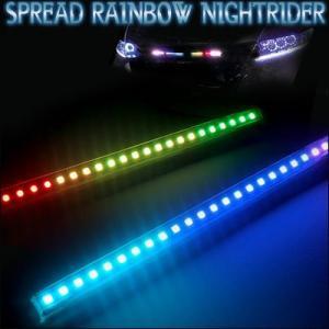 LEDテープ レインボーナイトライダー 28cm24連×25パターン点灯 gry