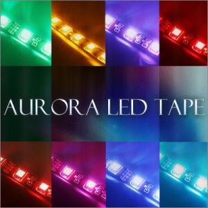 LEDテープ オーロラ 正面発光30cm LED15連 黒基板 1本  gry