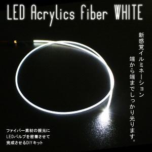 LEDアクリルファイバー 1m ホワイト ソケット付|gry