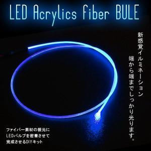 LEDアクリルファイバー 1m ブルー ソケット付|gry