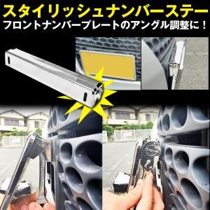 スタイリッシュ ナンバーステー XP-304 角度調整可能|gry