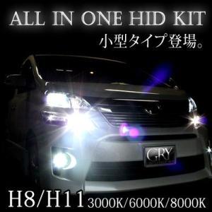 オールインワン HID一体型 H8 H11兼 3000k 6000k 8000k |gry