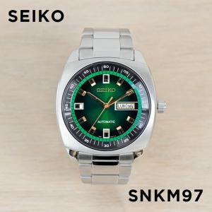 0fec542b281382 【並行輸入品】【10年保証】SEIKO セイコー リクラフト オートマチック SNKM97 腕時計 メンズ 逆輸入 アナログ シルバー グリーン 緑