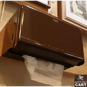 DULTON ダルトン 新仕様 ティッシュディスペンサー ペーパーボックス ティッシュケース 壁掛け 据置き可能 スチール製 ブラウン|gs-cart