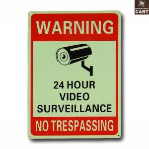 アメリカ製のアルミ製セキュリティサインボード!! 『24HOUR VIDEO SURVEILLANC...