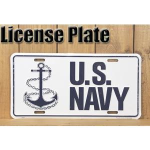 アメリカ合衆国海軍のライセンスプレートです。  碇のマークが力強い!ピックアップトラックやサバーバン...