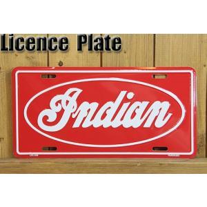 老舗の大型バイクメーカー『インディアンモーターサイクル』のロゴライセンスプレート。 インテリアとして...