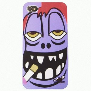 【残りわずか】iPhone 4S/iPhone 4 共通 Face/Smokin'/RedHair/Boy/Purple|gs-net