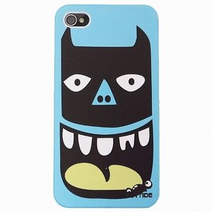 iPhone 4S/iPhone 4 共通 Face/Case-Bat/Mask/Hero/Blue|gs-net