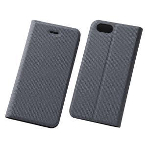 スマホケース iPhone 6S 6 マグネットスリムレザーケース ファブリックグレイ  アイフォン|gs-net