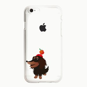 iPhone 8/iPhone 7 共通 iPhone 7 8/CLEAR/DESIGN/Dachshund|gs-net