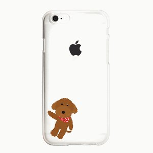iPhone 8/iPhone 7 共通 iPhone 7 8/CLEAR/DESIGN/poodle|gs-net