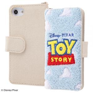 スマホケース iPhone SE 第2世代 8 7 6S 6 ディズニー 刺繍 手帳 帆布 トイ ストーリー ロゴ  アイフォン|gs-net
