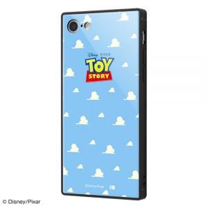 スマホケース iPhone SE 第2世代 8 7 ディズニー ガラスケース KAKU トイ ストーリー 25  アイフォン|gs-net