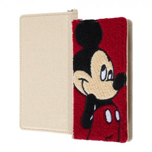 スマホケース 全機種対応 ディズニーキャラクター 汎用手帳型ケース刺繍ミッキーマウス|gs-net