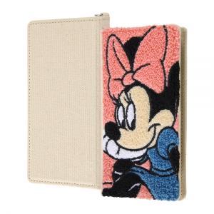 スマホケース 全機種対応 ディズニーキャラクター 汎用手帳型ケース刺繍 ミニーマウス|gs-net