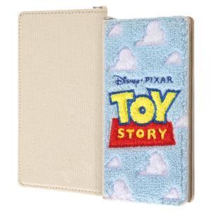 スマホケース 全機種対応 ディズニー 汎用手帳型ケース刺繍 トイ・ストーリー ロゴ|gs-net