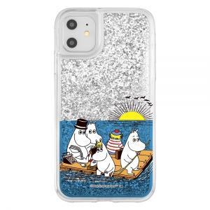 スマホケース iPhone 11 XR ラメ グリッターケース ムーミン達と海  アイフォン|gs-net