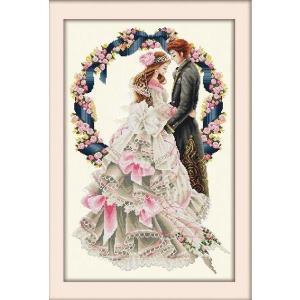 クロスステッチ 刺繍キット Happy Wedding クロスステッチキット クロスステッチ ししゅう糸 刺繍糸 刺繍針 刺繍キット|gs-shop