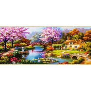 ししゅう糸 クロスステッチ刺繍キット 庭園池|gs-shop
