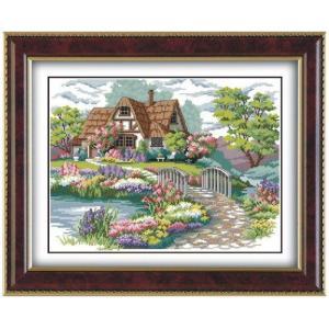 クロスステッチ 刺繍キット 美麗庭と家 クロスステッチキット...