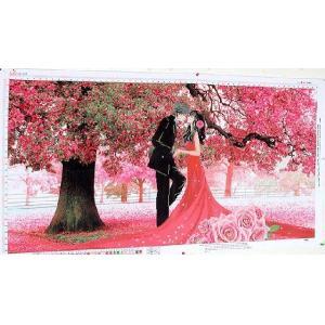 クロスステッチ刺繍キット 3D 桜 wedding 図柄印刷|gs-shop