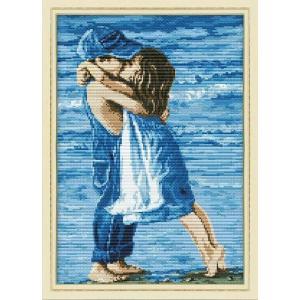 クロスステッチ 刺繍キット 海辺のリトルキッズラブ クロスステッチキット クロスステッチ ししゅう糸 刺繍糸 刺繍針 刺繍キット|gs-shop