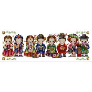 クロスステッチ刺繍キット 韓国結婚式 図柄印刷 クロスステッチキット クロスステッチ ししゅう糸 刺繍糸 刺繍針 刺繍キット|gs-shop
