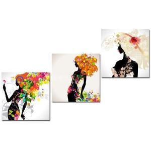 クロスステッチ 刺繍キット 3画 FASHION GIRLS (DMC刺繍糸) 図柄印刷|gs-shop